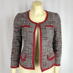 Banana Republic Tweed Tan & Red Jacket